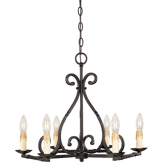 World Imports Rennes Collection 6-light Chandelier - Thumbnail 0