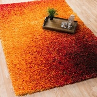 The Curated Nomad Vesuvio Sunset Shag Rug (7'7 x 10'5)