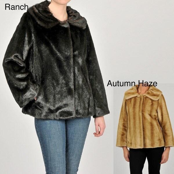 Jones New York Women's Faux Fur Short Coat