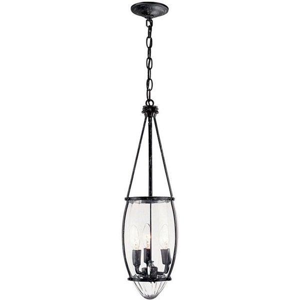 World Imports Crystal Elegance Collection 3-light Hanging Pendant