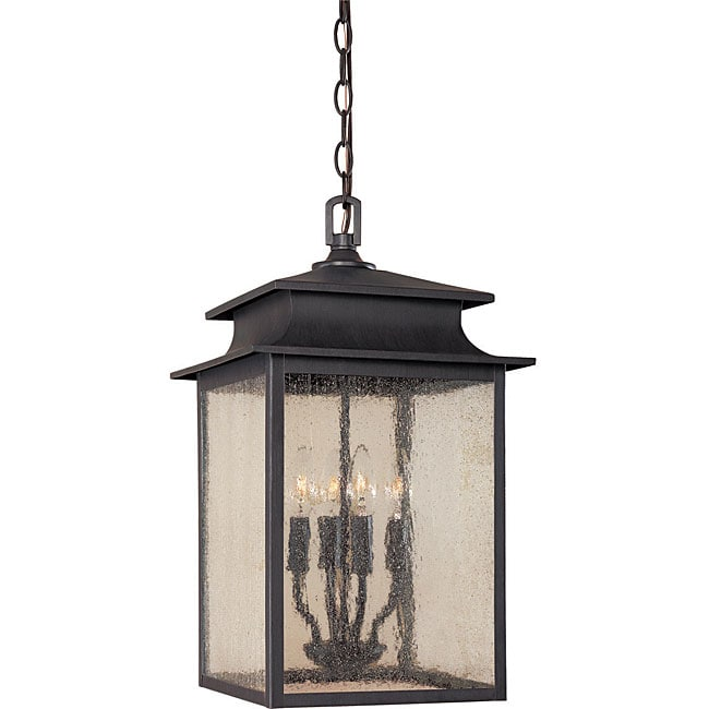 World Imports Sutton Collection 3 Light Rust Outdoor Wall: World Imports Sutton Collection 4-light Hanging Outdoor
