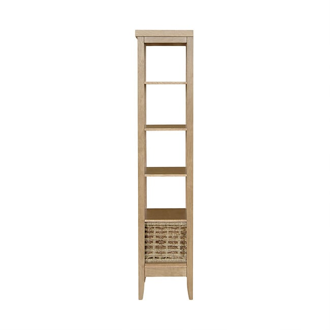 Charleston Linen Tower with Seagrass Basket