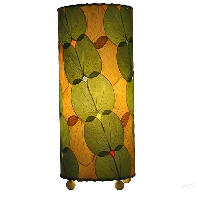 Handmade Green Alibangbang Leaf Table Lamp (Philippines)
