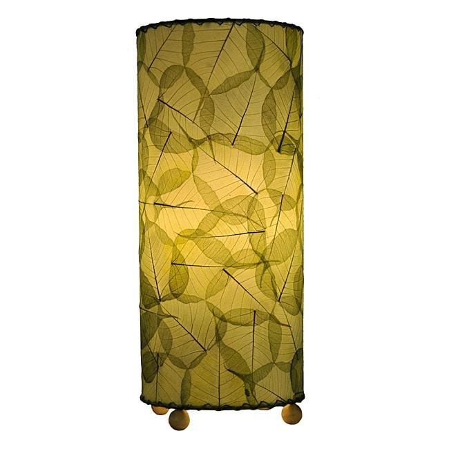 Handmade Green Banyan Leaf Table Lamp (Philippines)