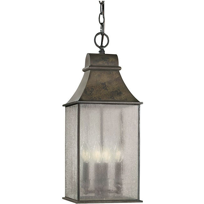 World Imports Sutton Collection 3 Light Rust Outdoor Wall: World Imports Revere Collection Outdoor 4-light Hanging