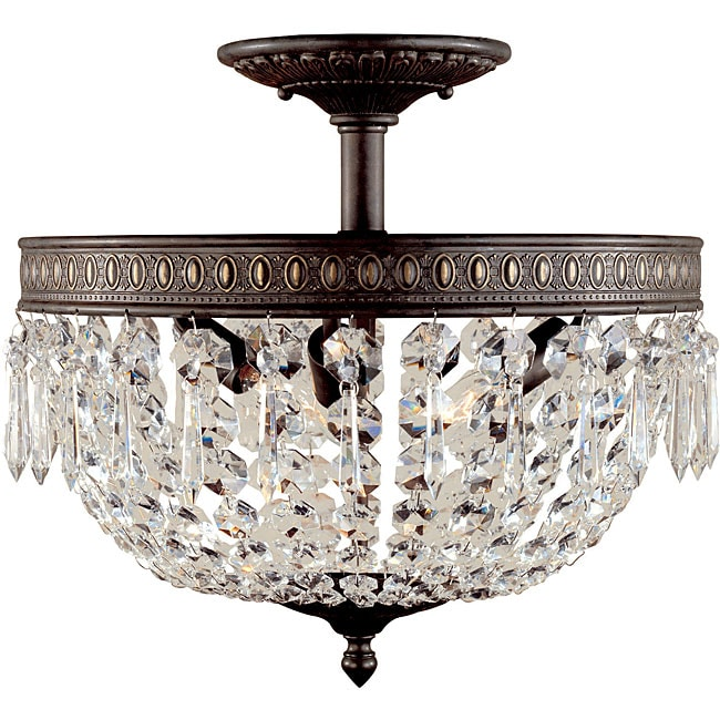 World Imports Bijoux Collection 3-light Semi-flush Mount