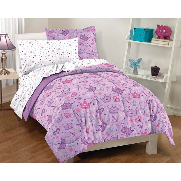 Stars and Crowns Full-size 7-piece Bed in a Bag with Sheet Set