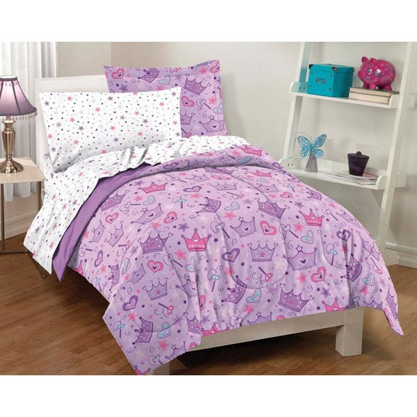 Dream Factory Stars And Crowns Twin Size 5 Piece Bed In A