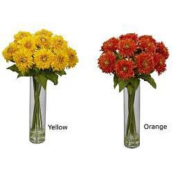 Sunflower with Cylinder Silk Flower Arrangement - Thumbnail 1