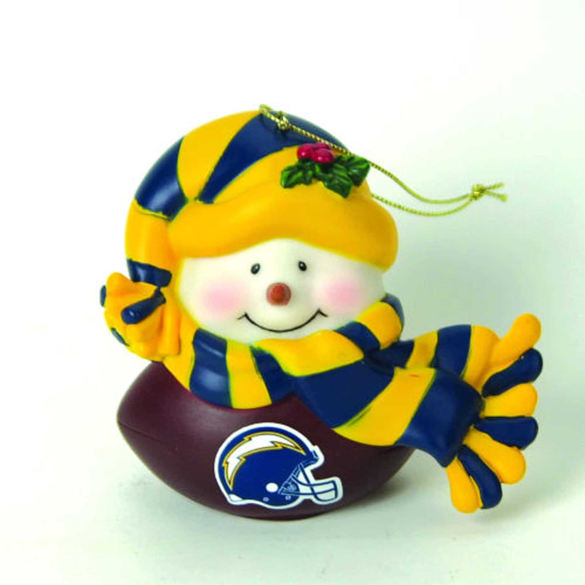 San Diego Chargers Musical Snowman Ornament
