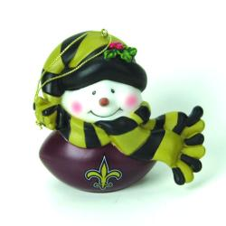 Forever Collectibles New Orleans Saints Musical Snowman Ornament - Thumbnail 0