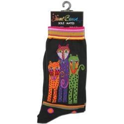 Laurel Burch Women's Polka Dot/ Leopard Socks