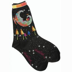 Laurel Burch Socks 'Mystic Moon'