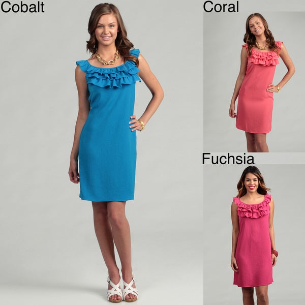 Tiana B. Women's Ruffle Neckline Dress FINAL SALE