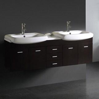Vigo 59-inch Double Bathroom Vanity