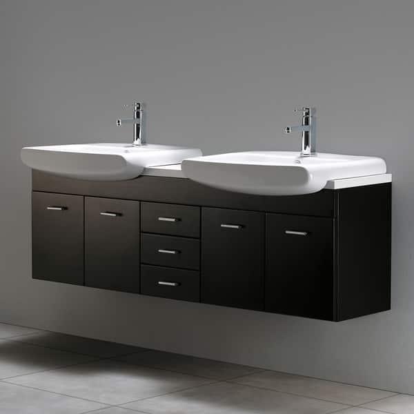 Vigo 59 Inch Double Bathroom Vanity