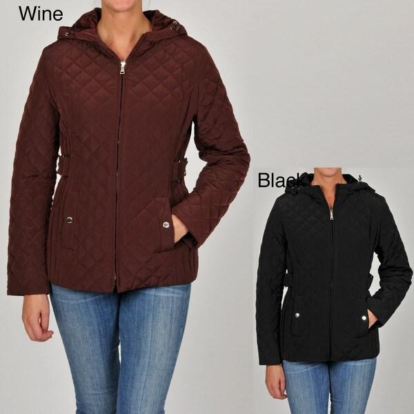 Esprit Women's Junior Quilted Hooded Jacket