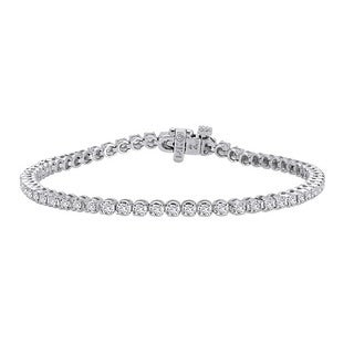 Auriya 14k White Gold 2ct TDW Diamond Tennis Bracelet (J-K, I2-I3)