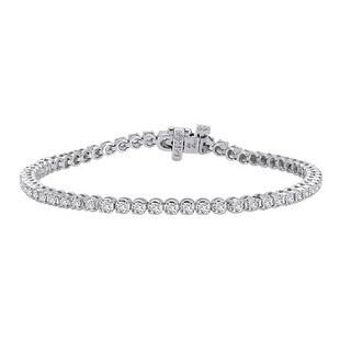 Auriya 14k White Gold 2ct TDW Round Diamond Tennis Bracelet