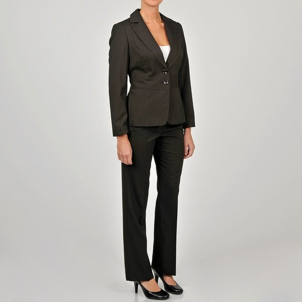 Sharagano Women's Striped 2-button Pant Suit