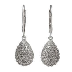 Sterling Silver 1/4ct TDW Diamond Teardrop Earrings (J-K, I3)