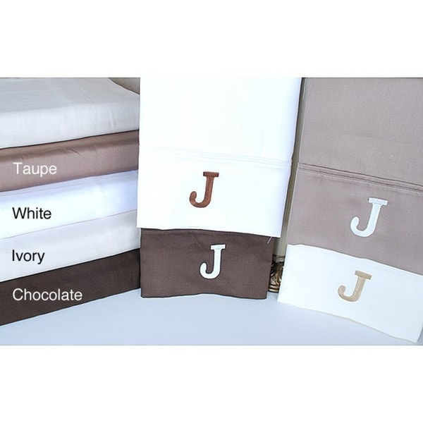 Egyptian Cotton 300 Thread Count Solid Block 'J' Monogram Sheet Set