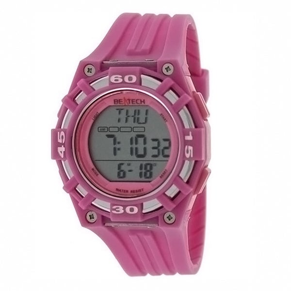 Beatech Pink Multi-function Timer Watch with Aluminum Camping Bottle Set