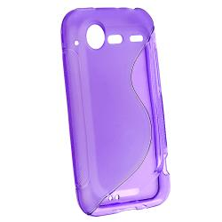 Purple TPU Rubber Skin Case for HTC Droid Incredible 2/ S