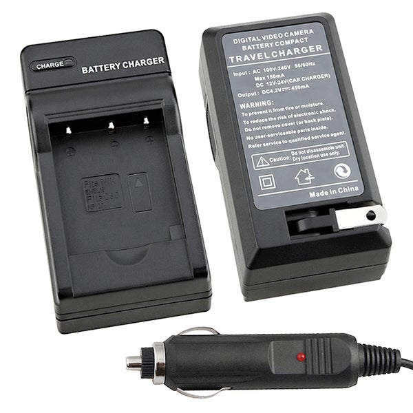 INSTEN Compact Battery Charger Set for Nikon EN-EL19 with Smart LED Indicator
