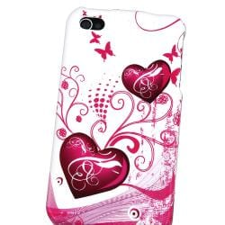 INSTEN Pink Heart Phone Case Cover for Apple iPhone 4 - Thumbnail 2