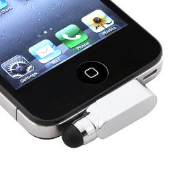 INSTEN Silver Stylus with Dust Cap for Apple iPhone/ iPod Touch/ iPad