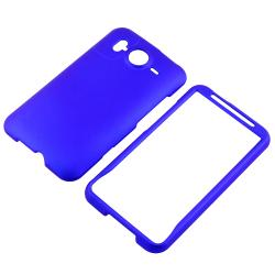 INSTEN Blue Rubber-coated Phone Case Cover for HTC Inspire 4G/ Desire HD/ Ace