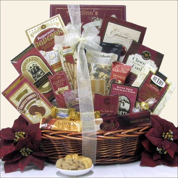 Peace & Prosperity Medium Christmas Holiday Chocolate Gift Basket