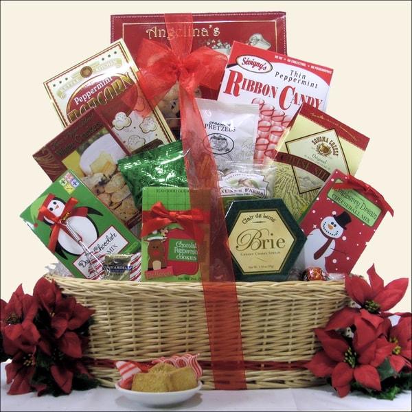 Tidings of Joy Medium Christmas Holiday Gourmet Gift Basket