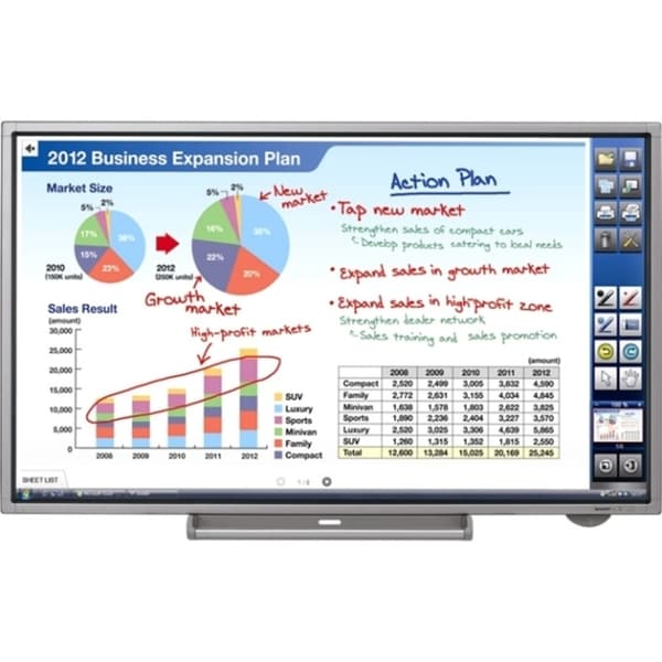 "Sharp PN-L702B 70"" LCD Touchscreen Monitor - 16:9 - 6 ms"