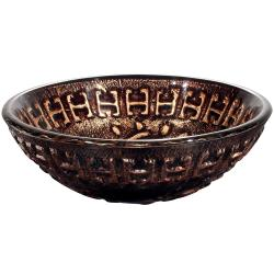 VIGO Aztec Glass Vessel Bathroom Sink