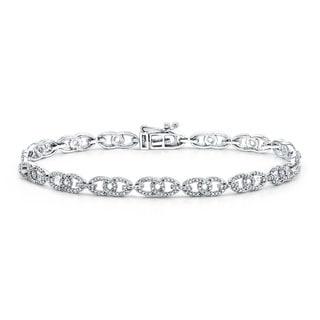 Auriya 10k White Gold 1ct TDW Diamond Bracelet (H-I, I1-I2)