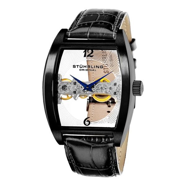 Stuhrling Original Men's Millennia Ravine Stainless-Steel Mechanical Watch