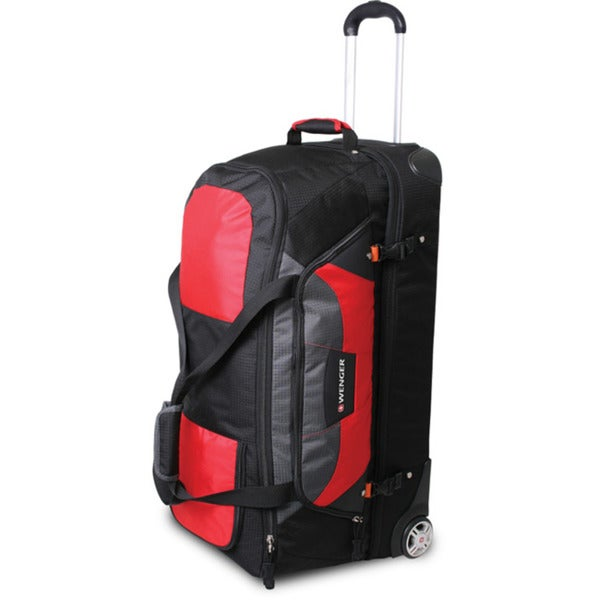 deae7df29b2c Shop Wenger SwissGear Sierre II Red 30-inch Rolling Upright Duffel Bag -  Free Shipping Today - Overstock - 6277405