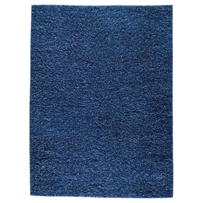 M.A.Trading Hand-woven Shanghai Mix Blue Wool Rug (5'6 x 7'10)