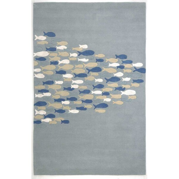 TAQ-802 Hand Tufted Wool & Art Silk (5' X 8')