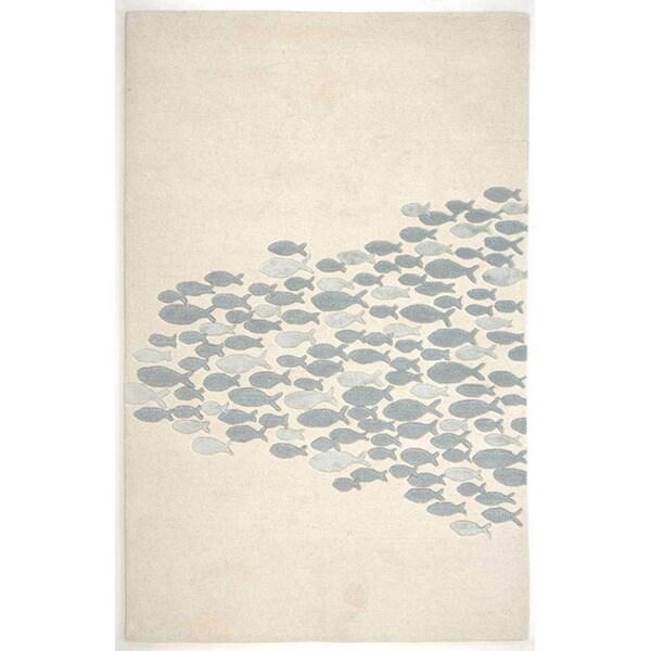 Hand Tufted Beige Wool Art Silk Area Rug 5 X 8 Free