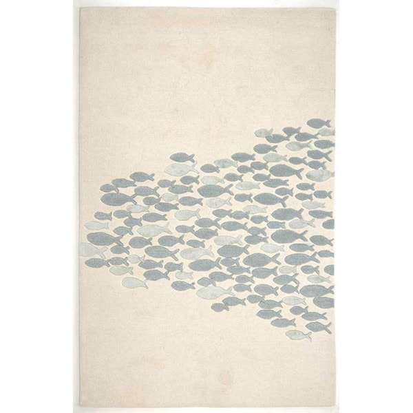 Hand-tufted Sand Wool Rug (3'6 x 5'6)