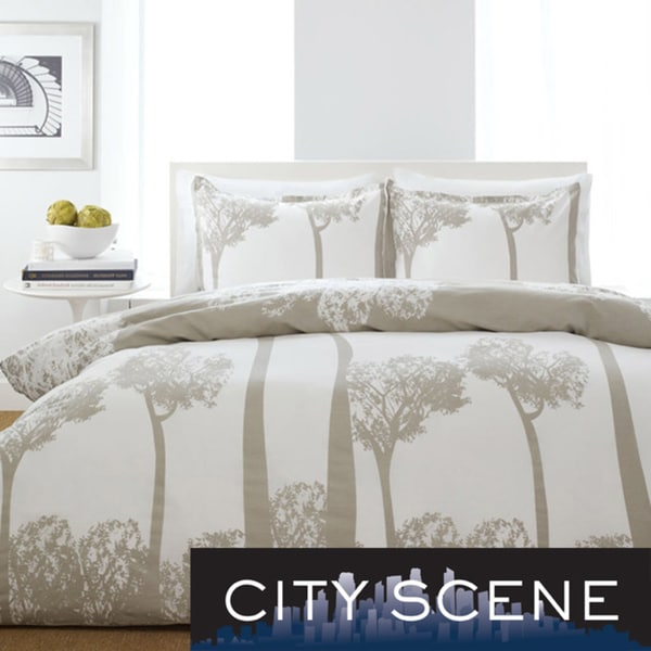 City Scene Tree Top 3-piece Full/ Queen-size Comforter Set