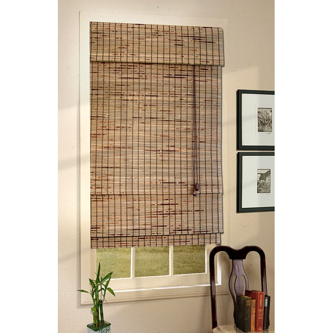 Natural Burnt Kiawah Roman Shade (51.5 in. x 72 in.) - Thumbnail 0