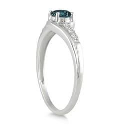 Marquee Jewels 10k White Gold 2/5ct TDW Blue and White Diamond Ring (I-J, I1-I2)