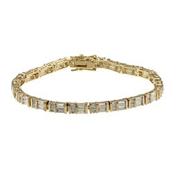 Kate Bissett 14k Goldplated Clear Cubic Zirconia Tennis Bracelet
