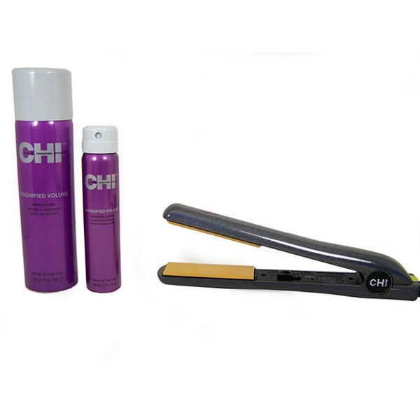 CHI Sliver Glisten Ceramic Hairstyling Iron Set