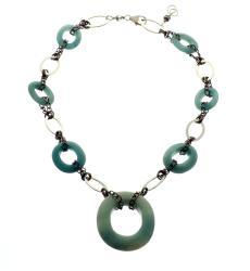 Silvertone 'Serenity' Amazonite Necklace