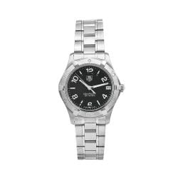 Tag Heuer Women's WAF1310.BA0817 Aquaracer Black Dial Stainless Steel Watch